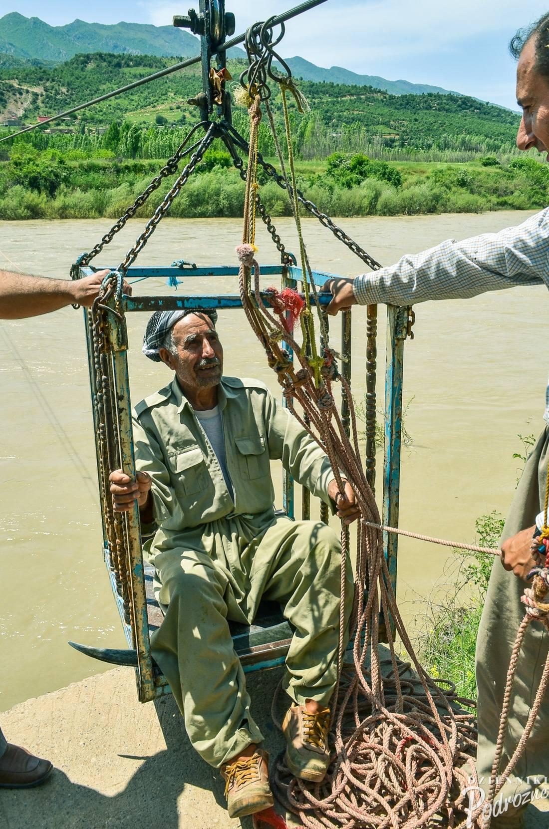 przeprawa przez rzekę - partyzanci wysadzili most