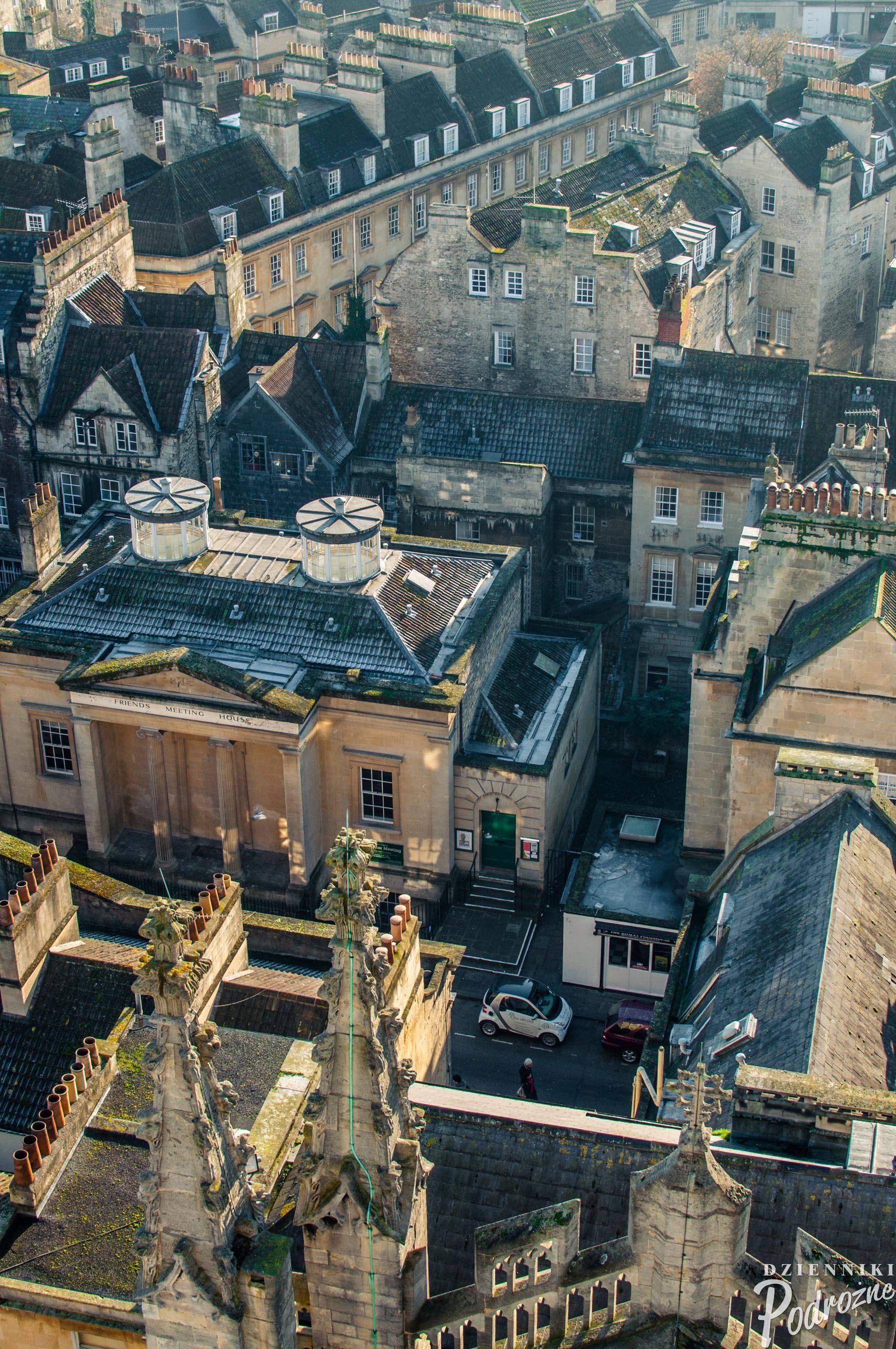 widok z wieży Bath Abbey