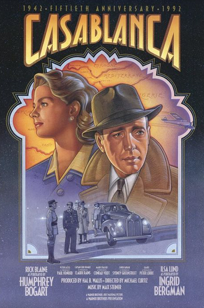 "plakat z filmu ""Casablanca"""