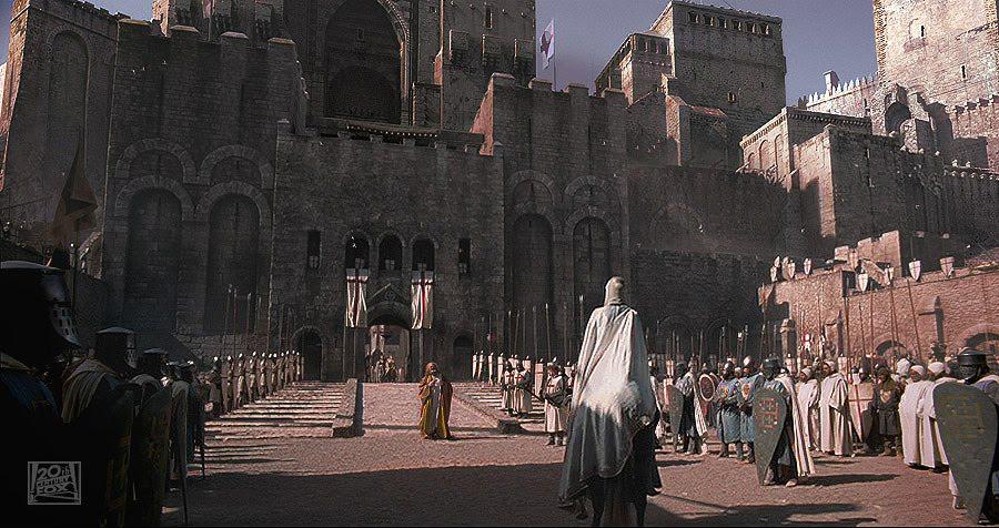 """zamek CLA Studios jako Jerozolima – kadr z filmu """"Królestwo Niebieskie"""""""
