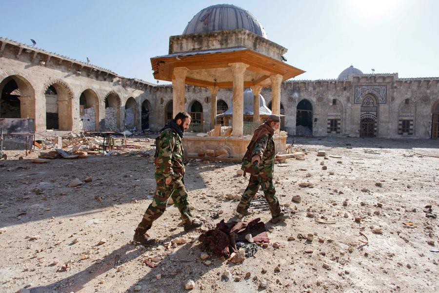 Aleppo – fontanna na dziedzińcu Meczetu Umajjadów / 2013 r. (źródło: http://news.nationalgeographic.com)